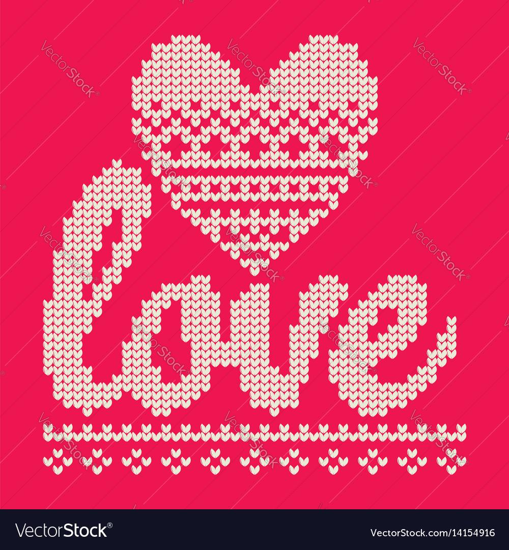 Knitting love vector image
