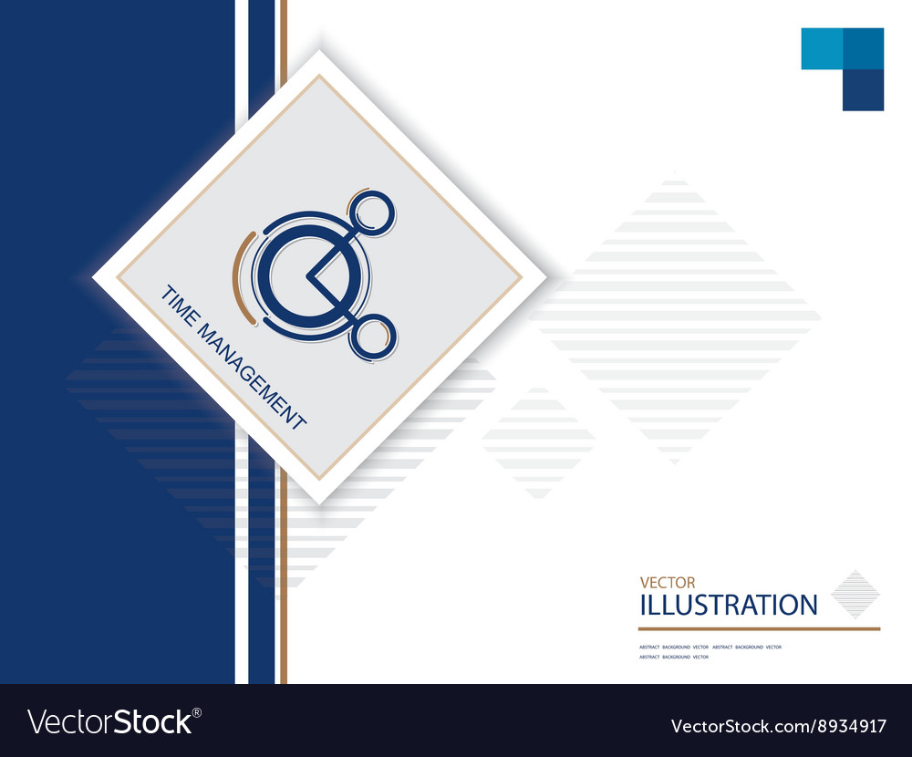 Time icon on blue bg vector image