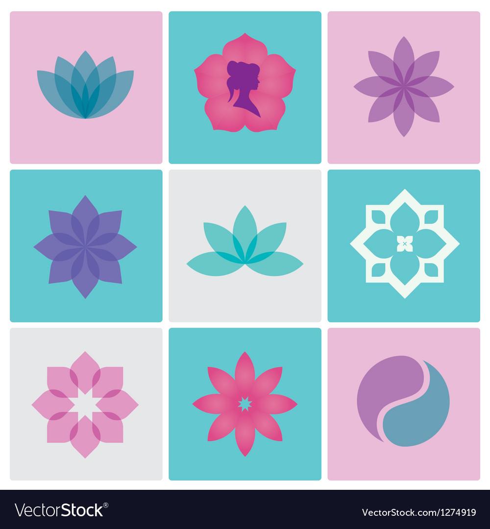 Logo spa flowers vector image