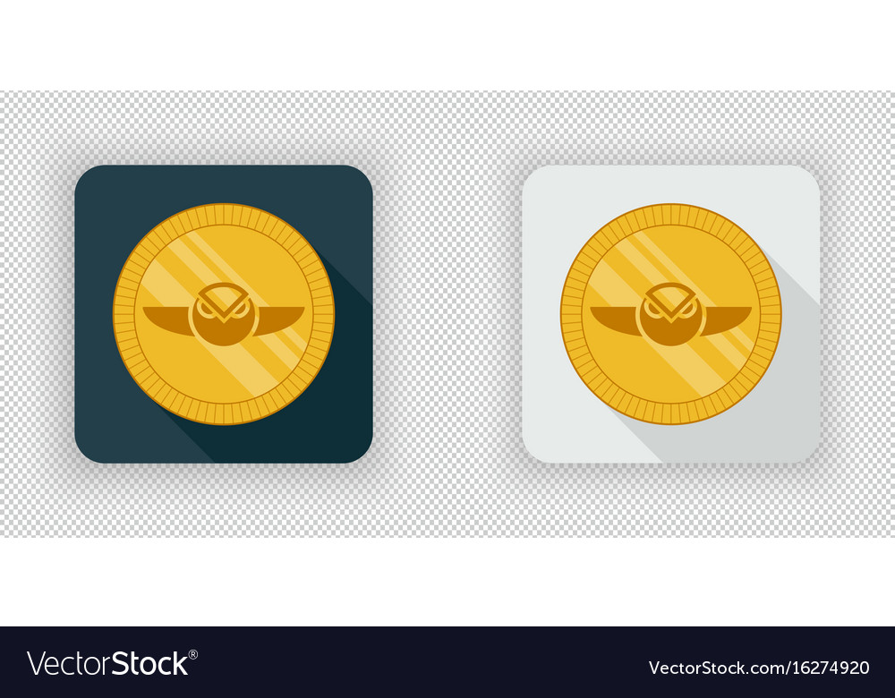 Light and dark gnosis crypto currency icon vector image