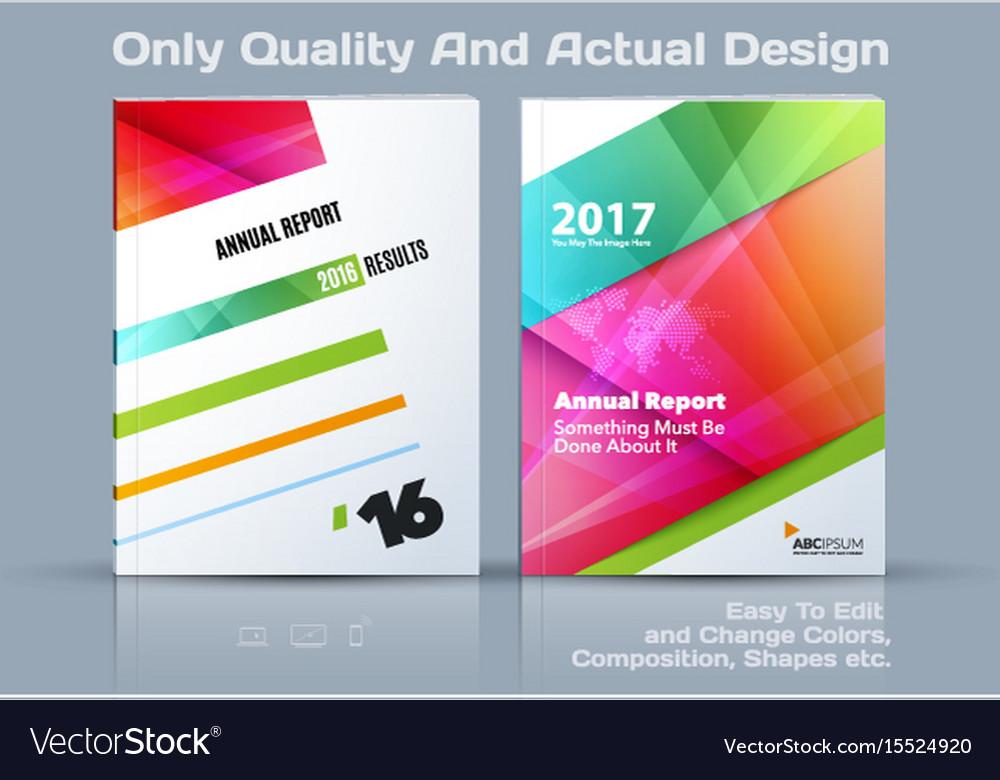 Set of business template brochure design vector image