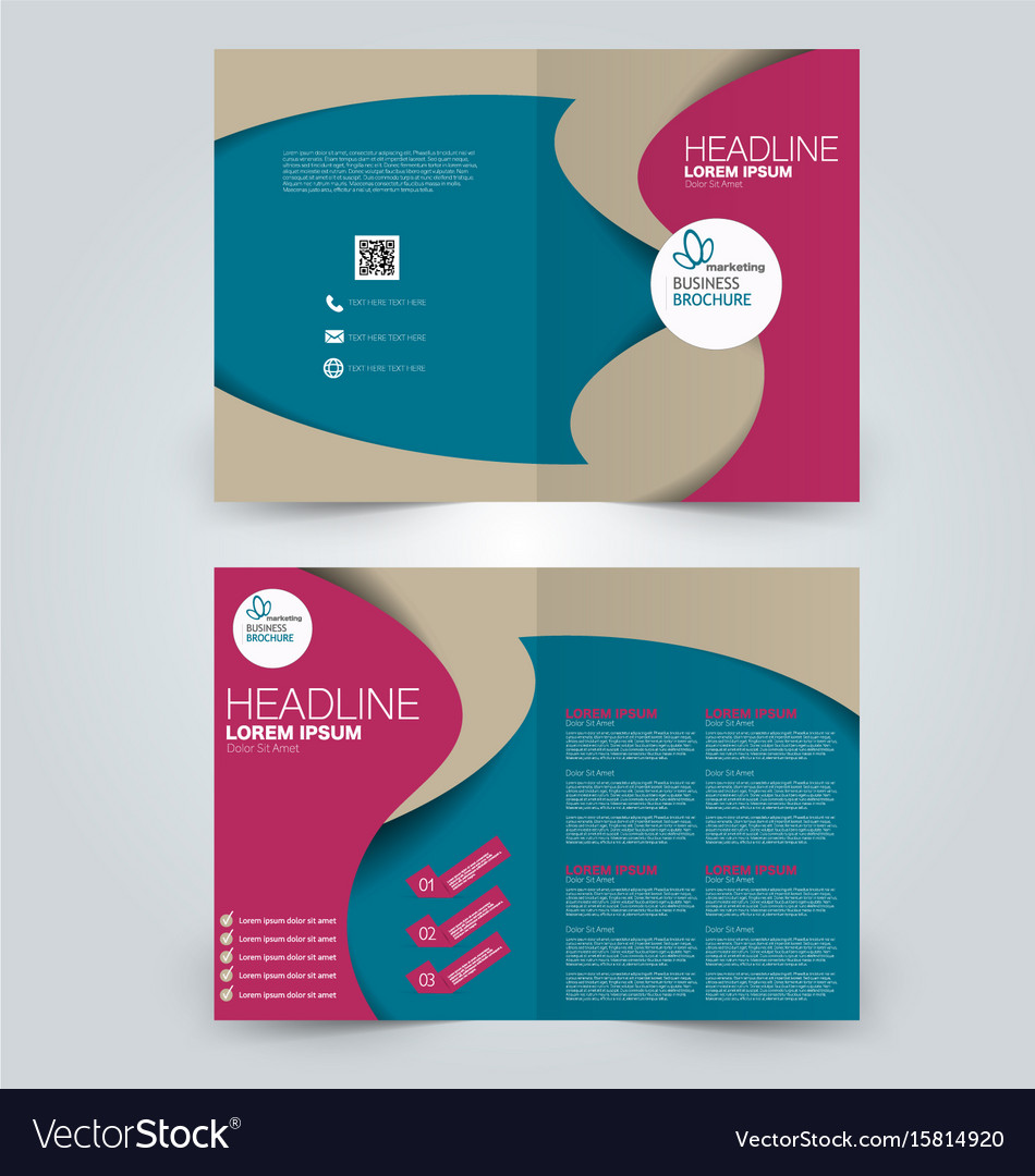 two page brochure template