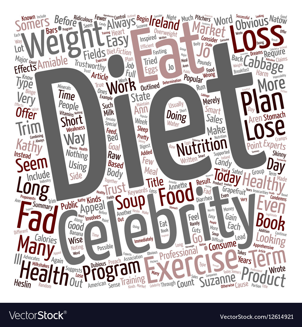 Do Popular Fad Diets Work text background vector image