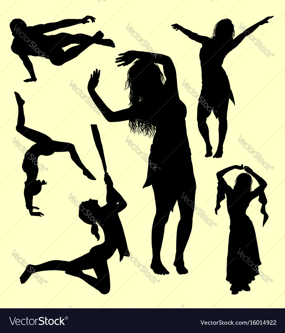 Gesture male and female silhouette vector image