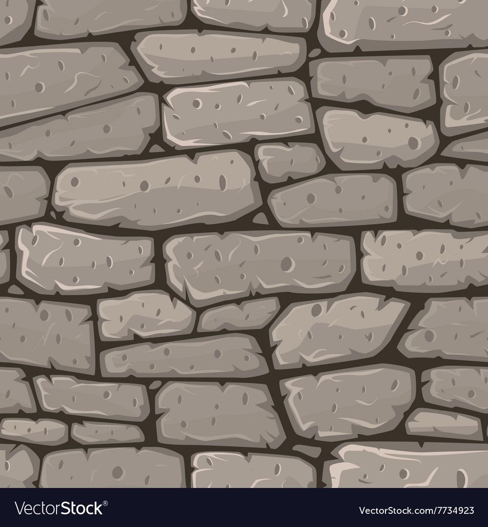 Seamless cartoon stone texture vector image