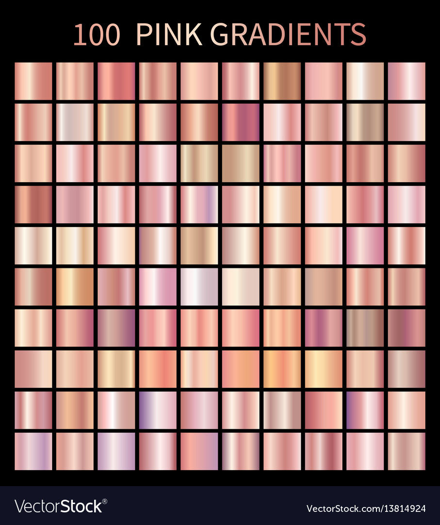 Pink rose gradients collection for fashion design vector image