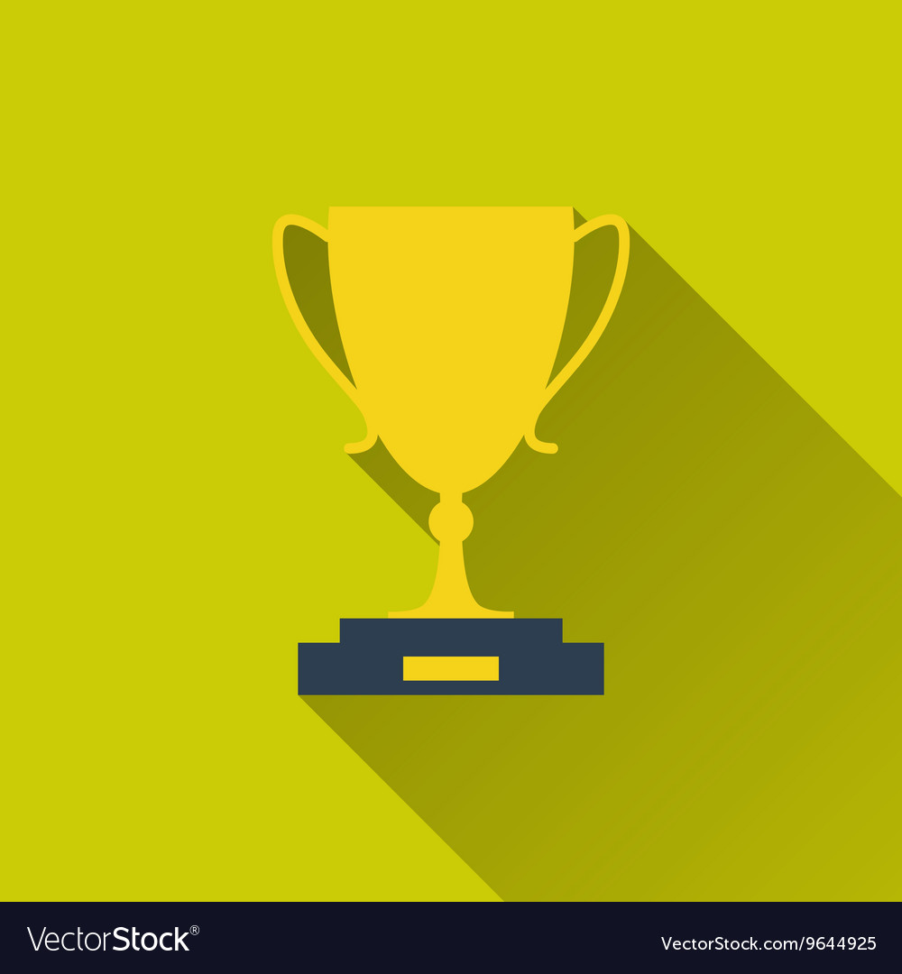 Gold goblet icon vector image