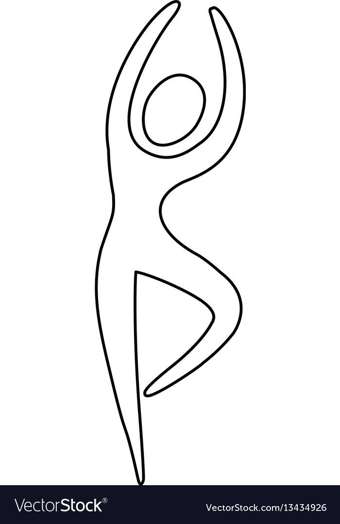 Figure person dancing icon vector image