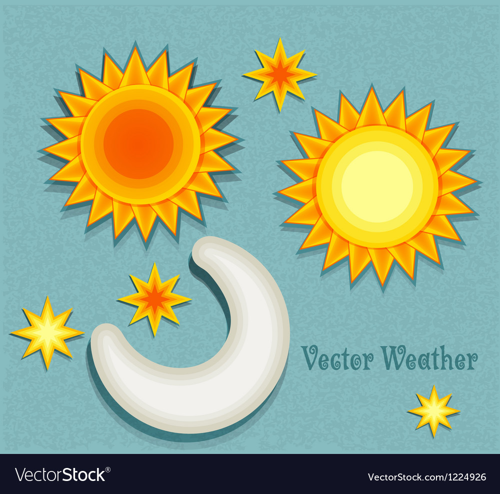 Set of elements for weather forecast vector image