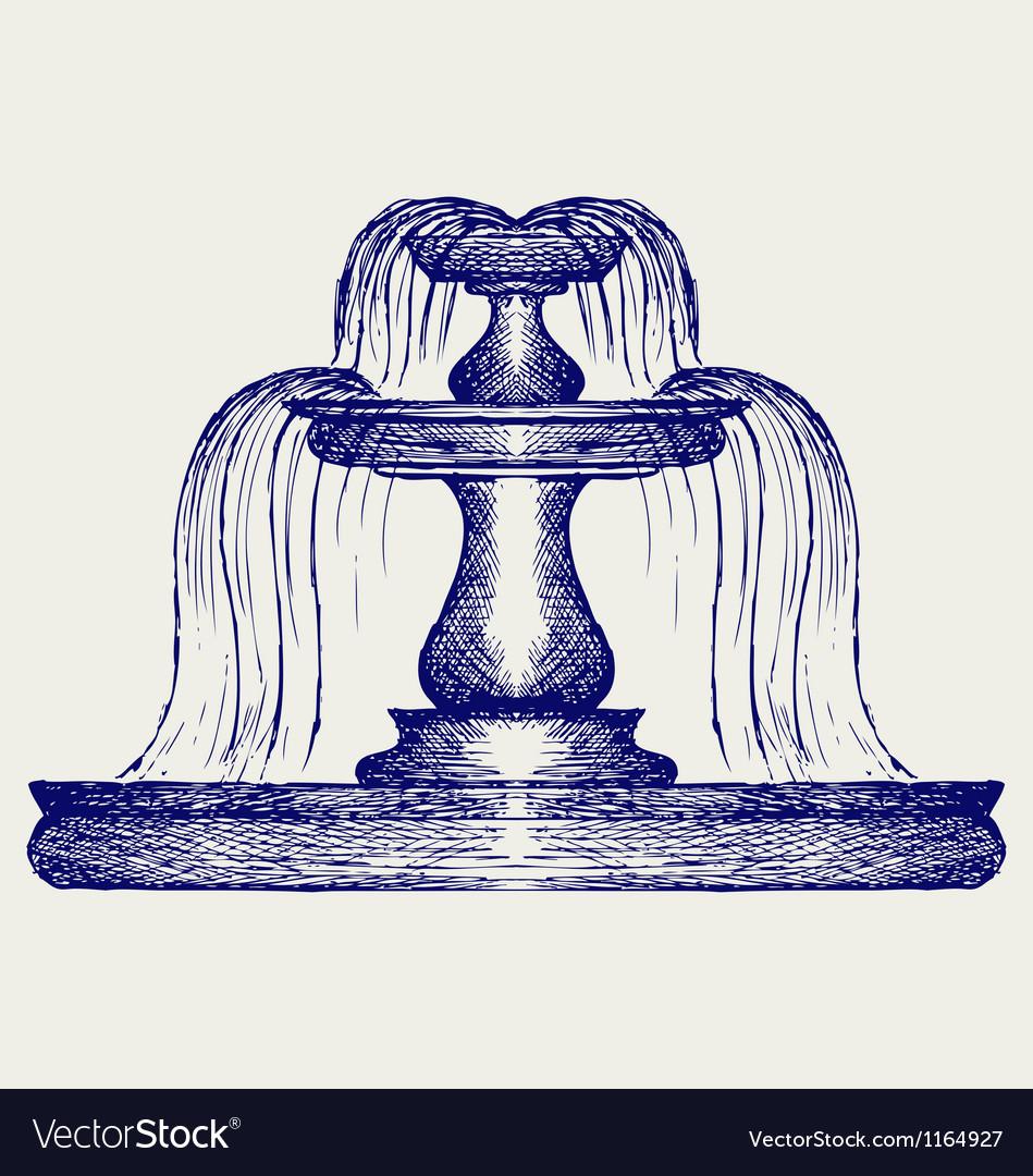 Fountain vector image