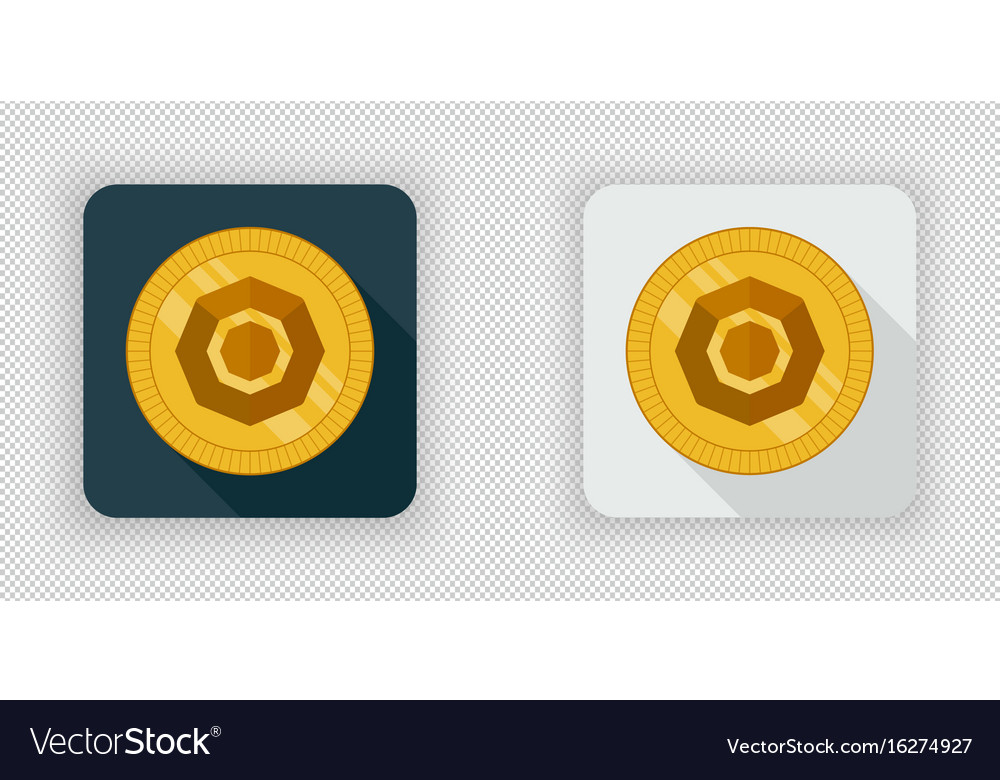 Light and dark komodo crypto currency icon vector image
