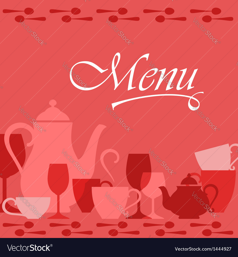 Restaurant menu cover vector image