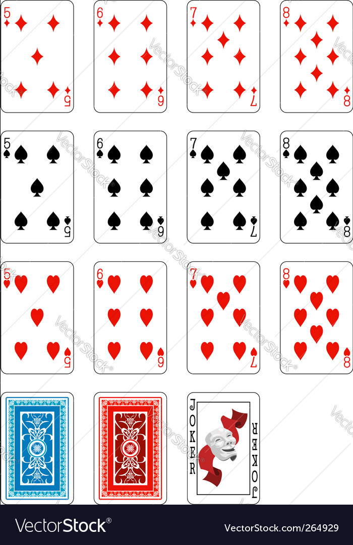 Deck of cards Vector Image
