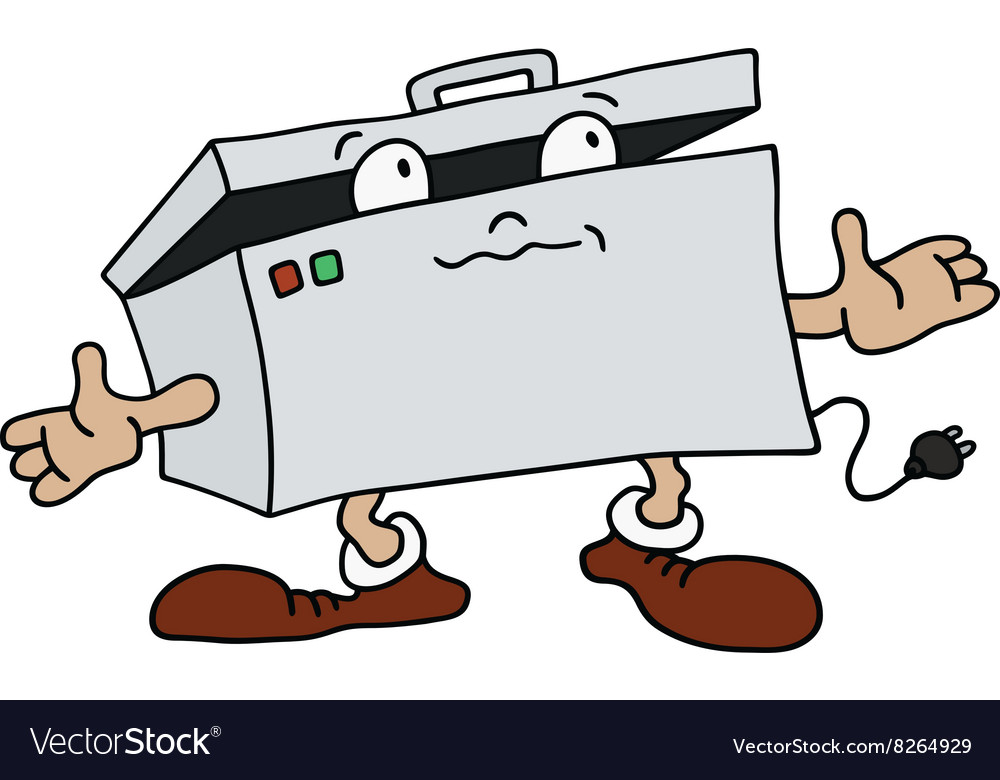 Funny freezing box vector image