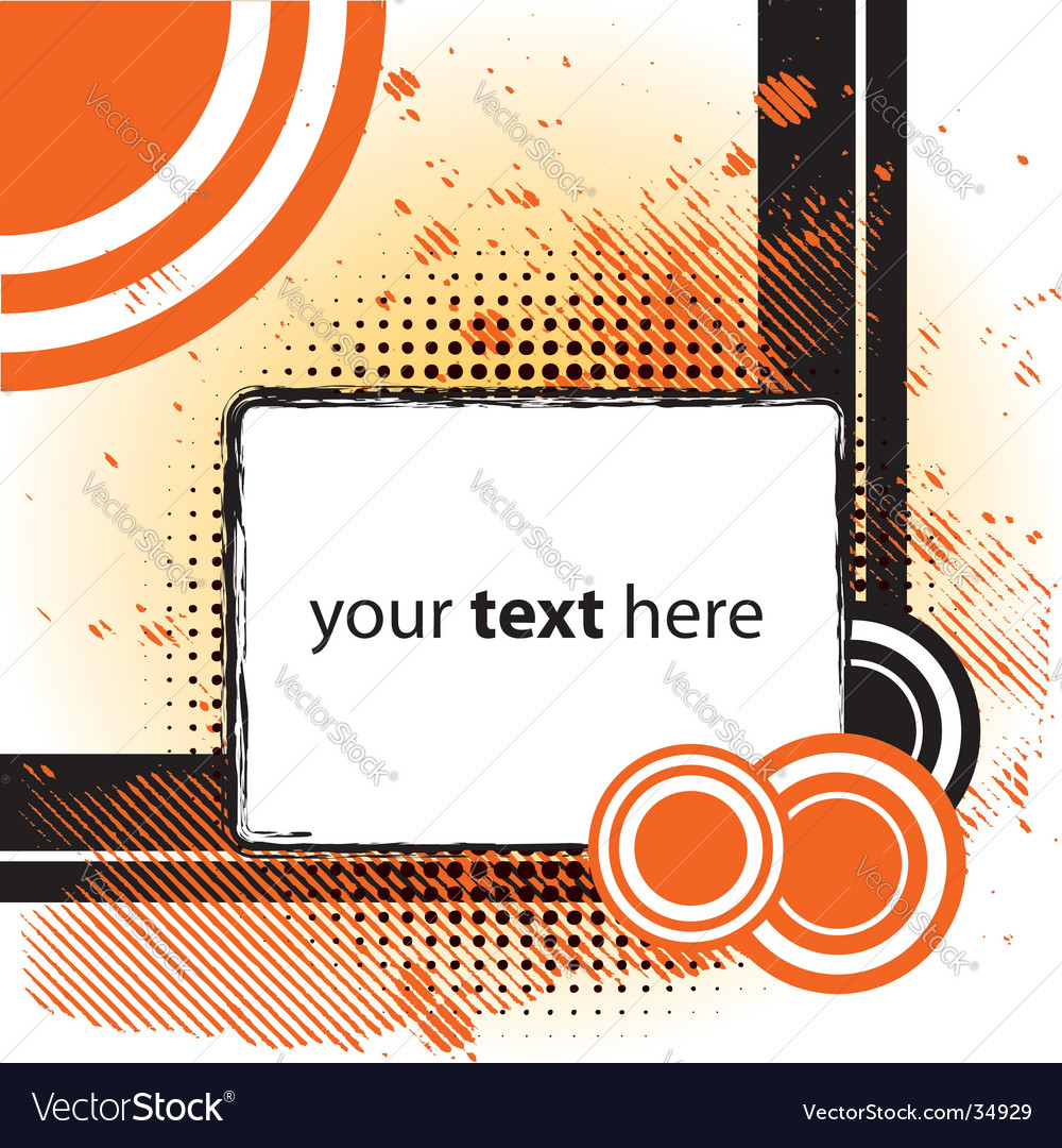 Grungy design vector image