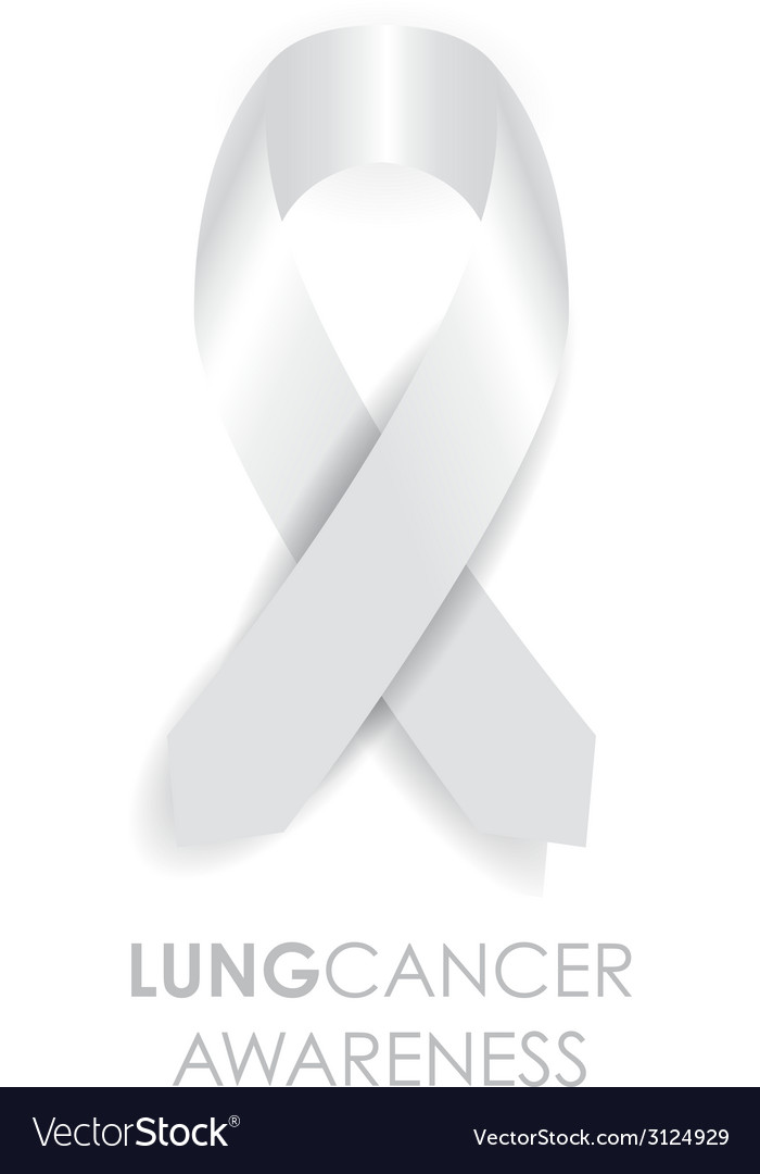 Lung cancer ribbon vector image