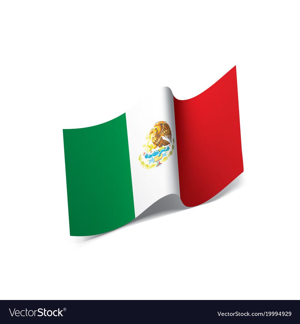 mexican flag royalty free vector image vectorstock rh vectorstock com mexican flag vector free mexican flag logo vector