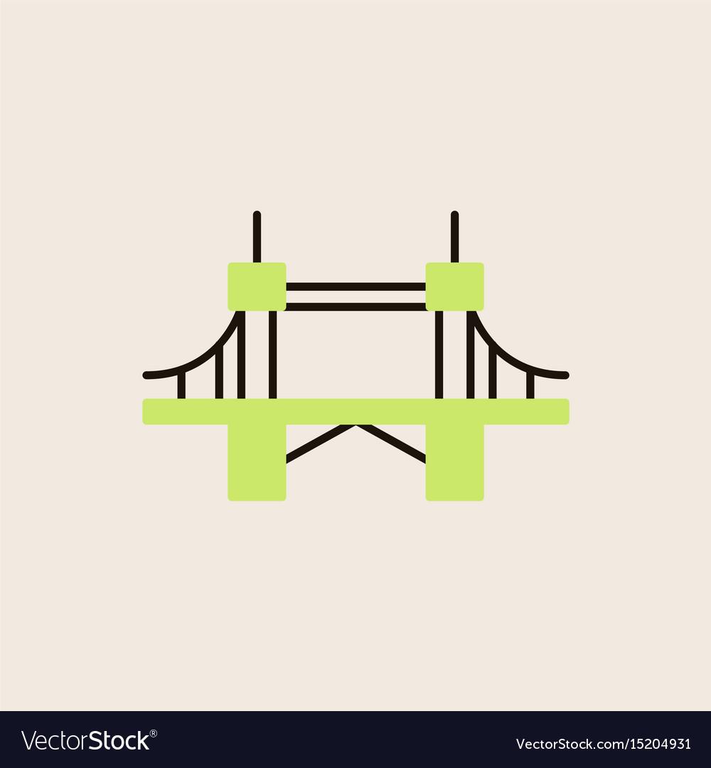 Metal cable suspension bridge modern bridge