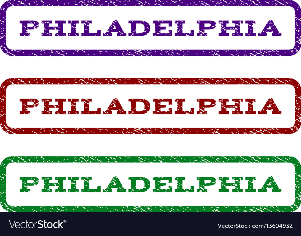 Philadelphia watermark stamp vector image