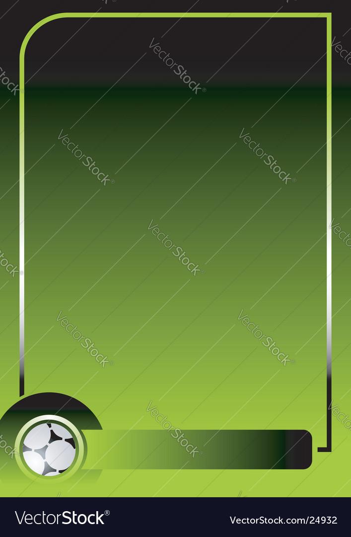 Soccer green background vector image
