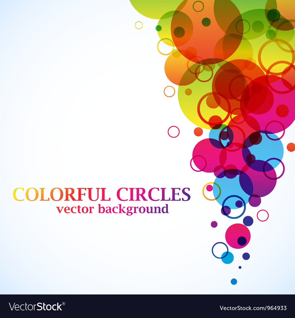 Abstract spectrum circles background vector image