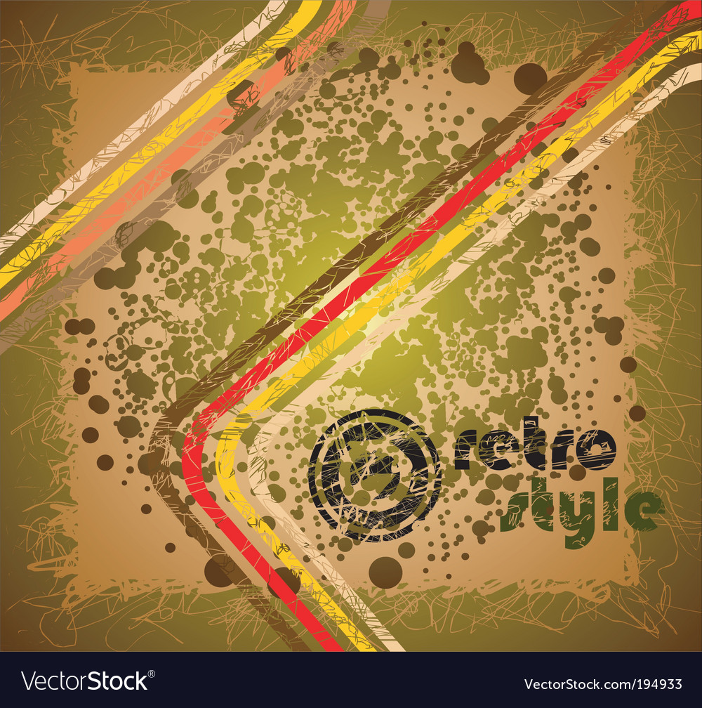 Grunge retro background vector image
