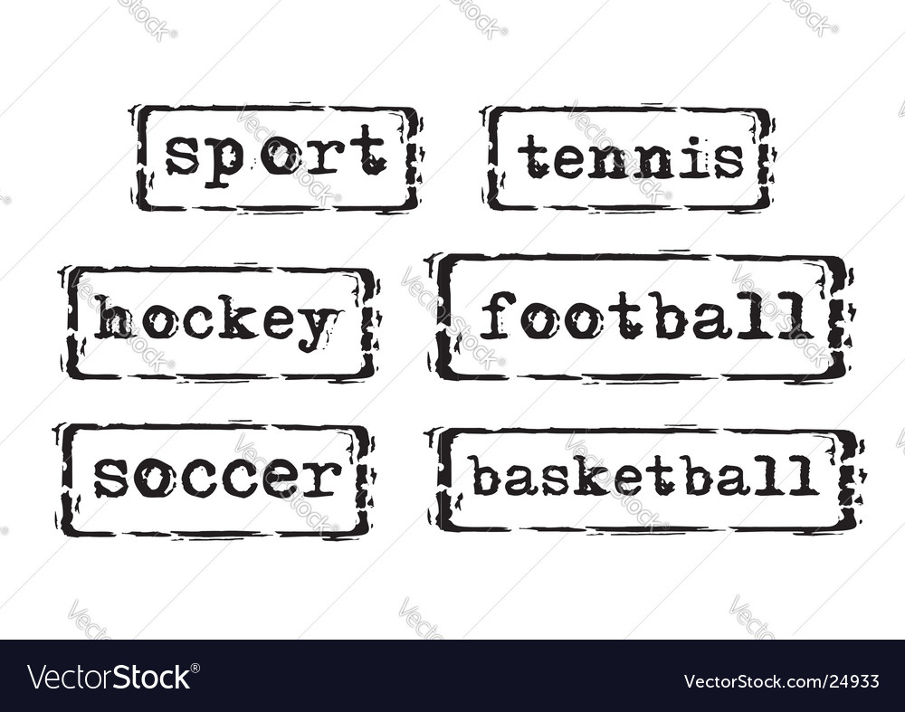 Sport stamps vector image