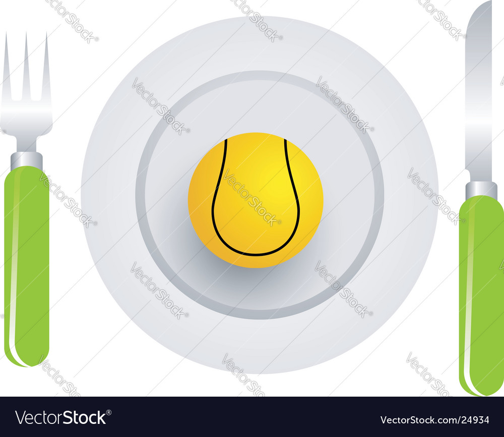 Tennis ball dish vector image