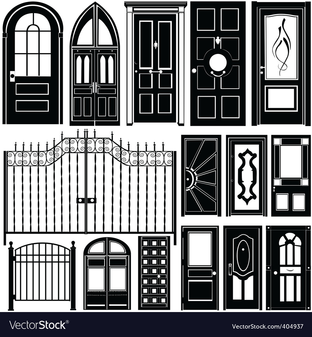 Door Design Royalty Free Vector Image Vectorstock