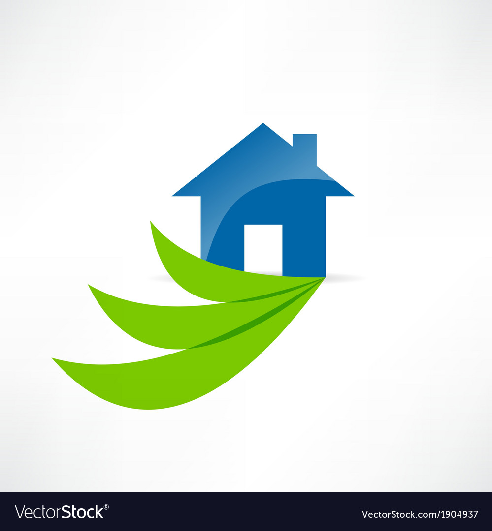 Eco house icon vector image
