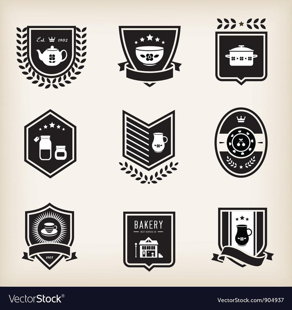 Kitchen badges vector image