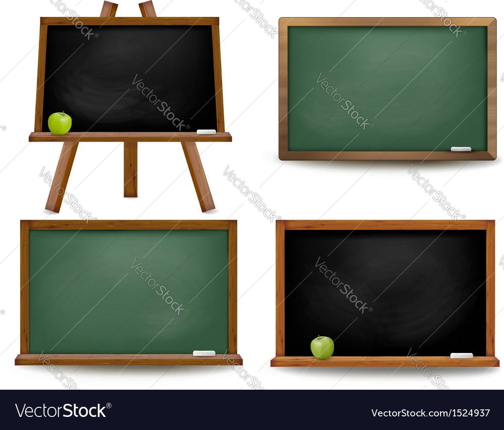 Set of school board blackboards Back to school vector image