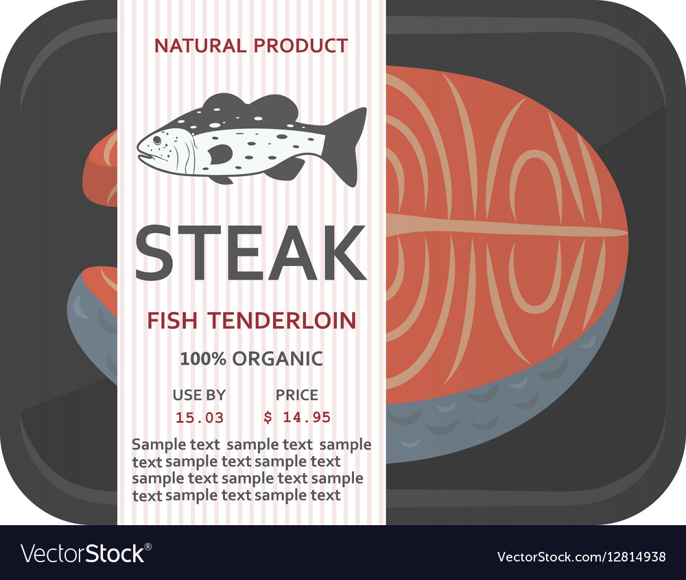 Fish fillet in a package vector image