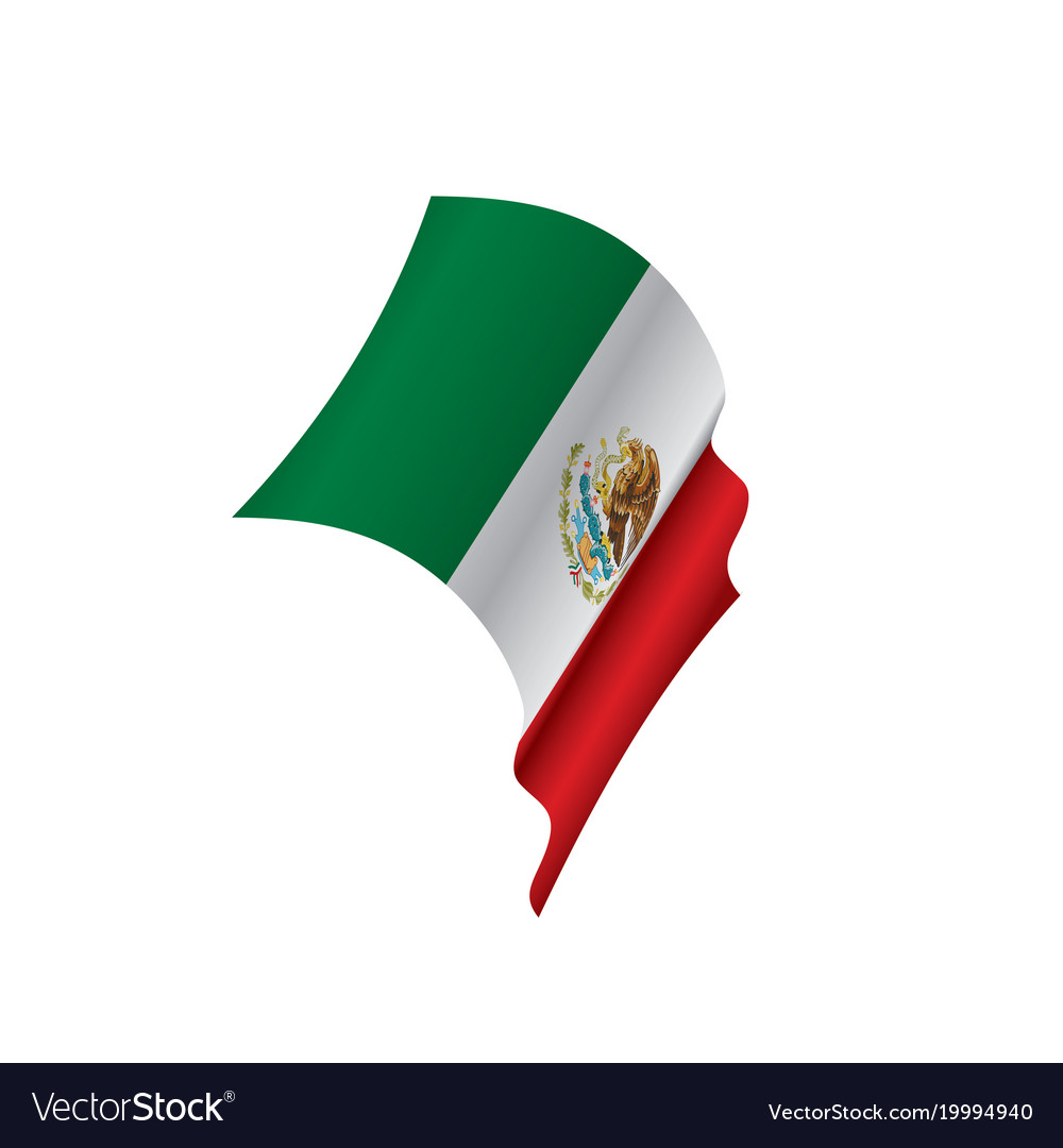mexican flag royalty free vector image vectorstock rh vectorstock com mexican flag vector free download mexican flag vector free