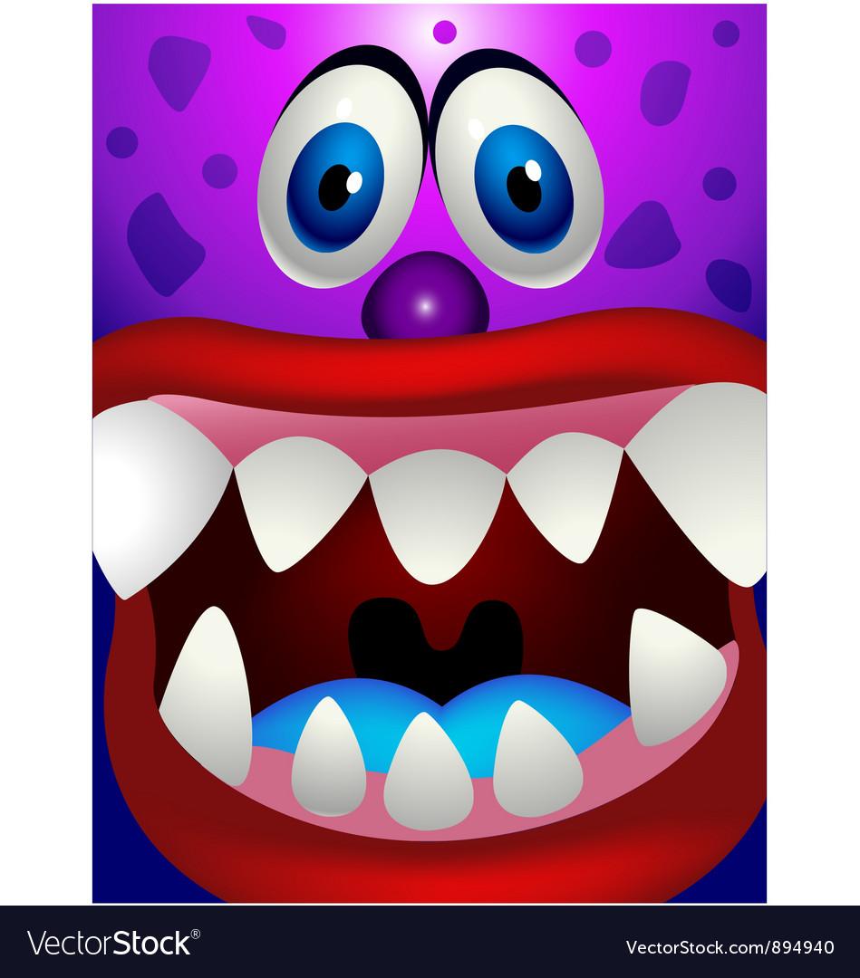 Monster head vector image