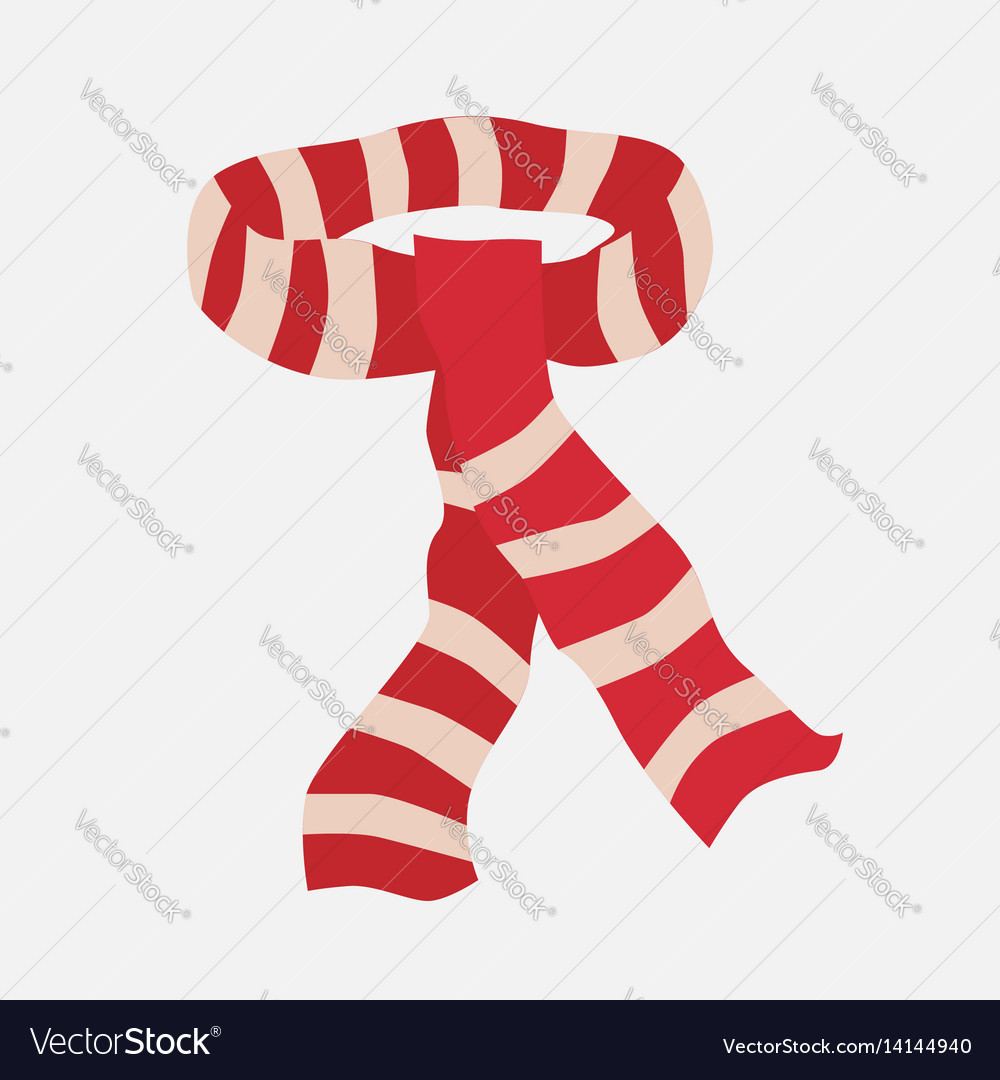 Red striped scarf vector image