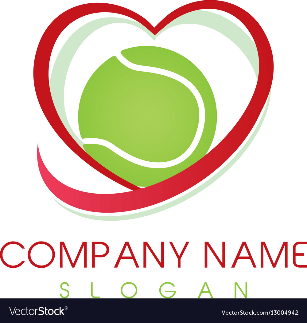 Love tennis logo vector image