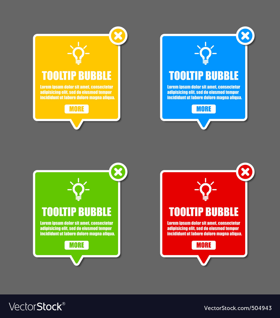 Tooltip bubble vector image