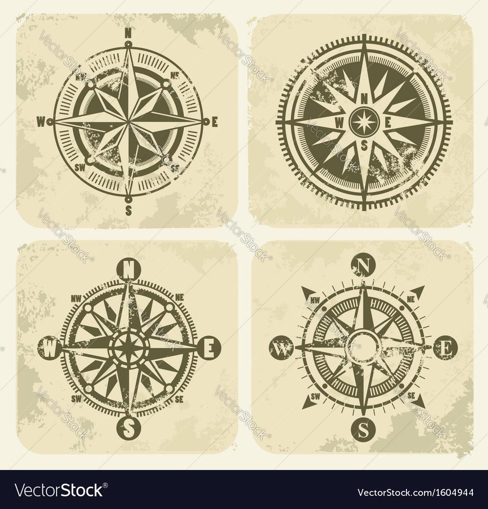 Vintage compasses vector image