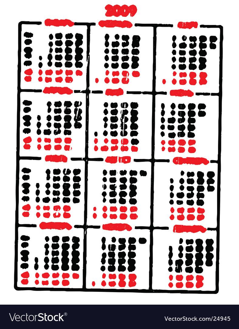 Calendar fun vector image