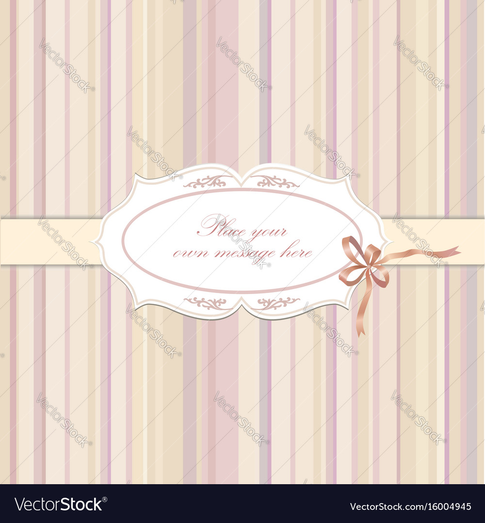 Flower frame greeting card border decor floral vector image kristyandbryce Choice Image