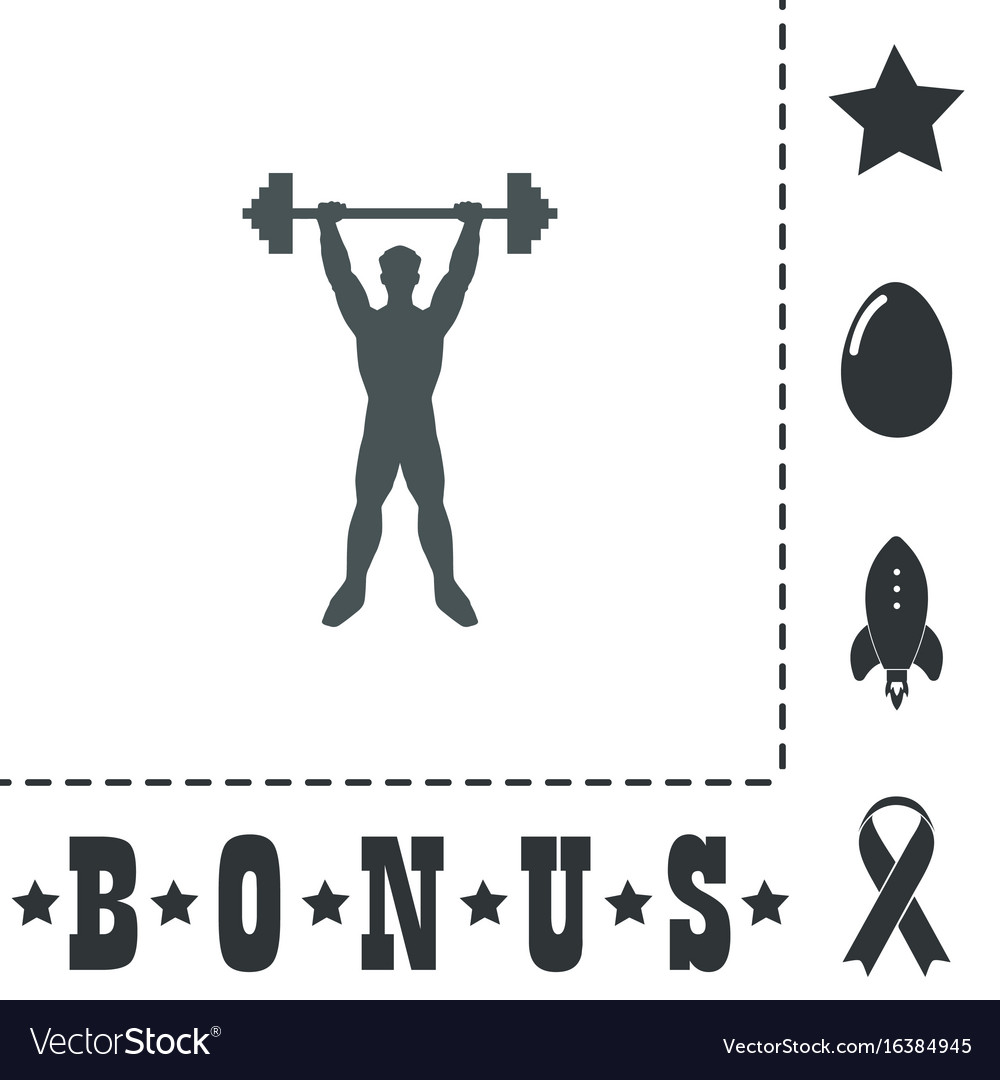 Strong man icon of fitness royalty free vector image strong man icon of fitness vector image buycottarizona Choice Image