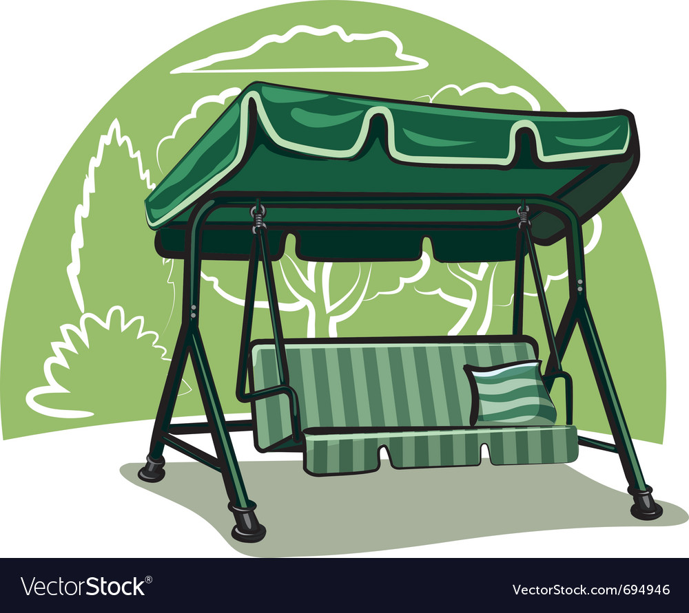 Garden swing vector image