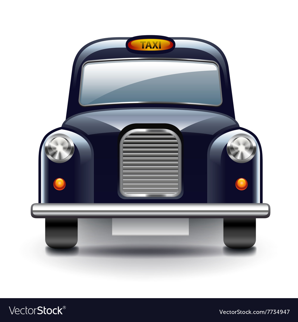 London taxi isolated on white vector image