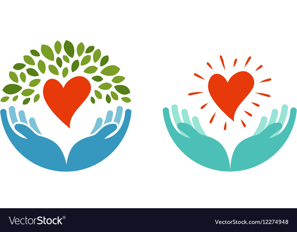 Love ecology environment icon Health medicine vector image