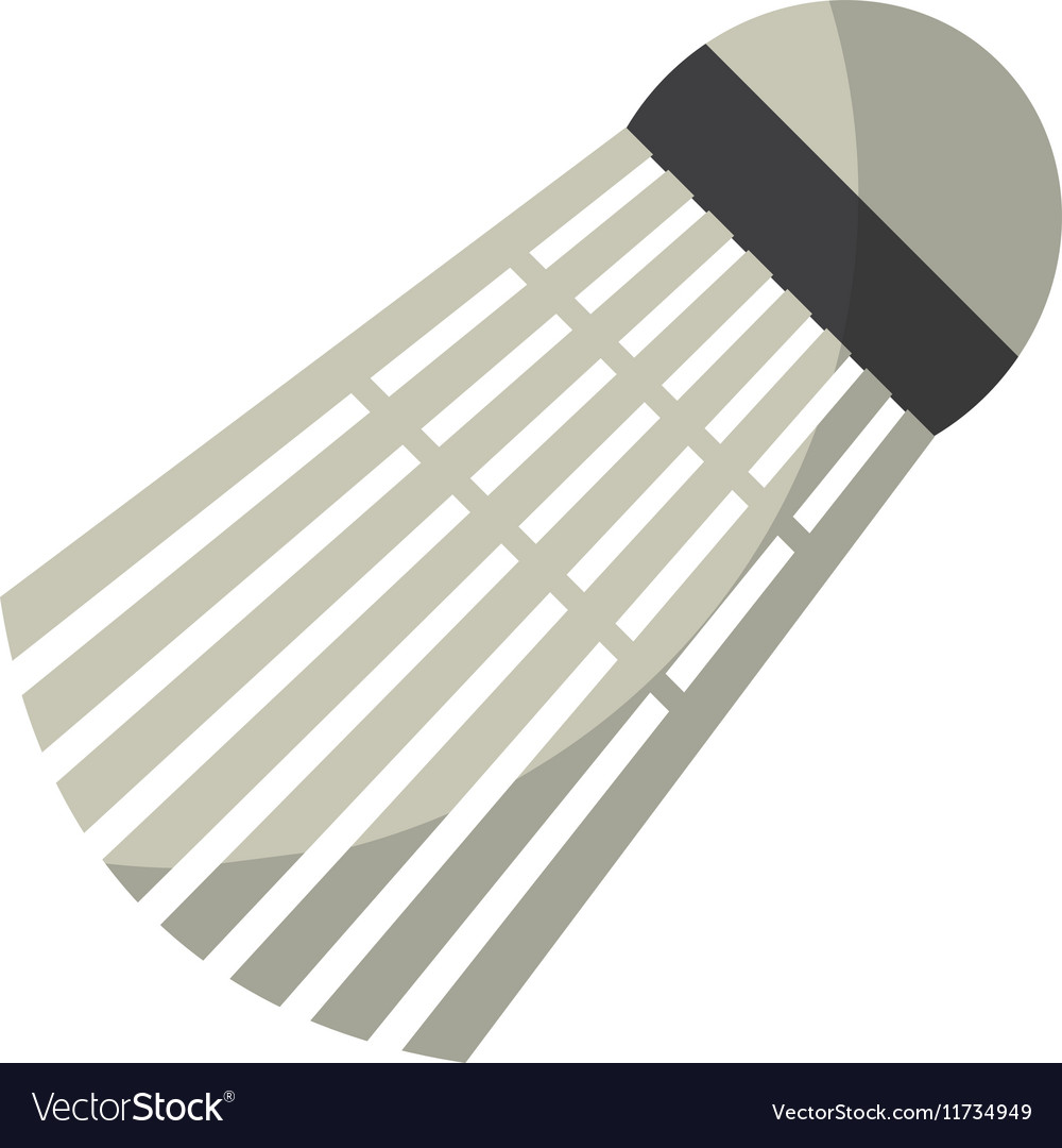 Badminton birdie ball vector image
