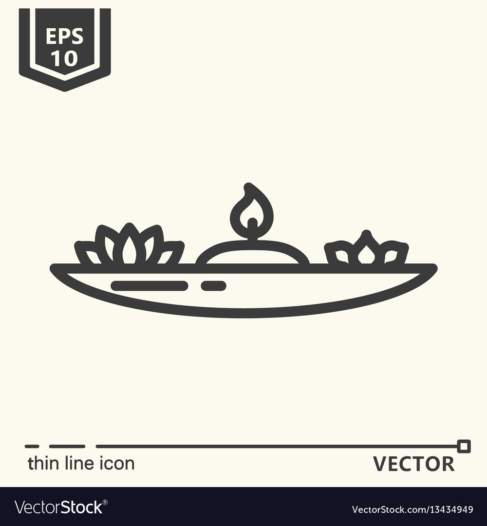 One icon - candlestick for meditation vector image