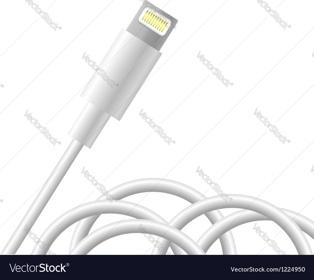 Smart phone connector vector image