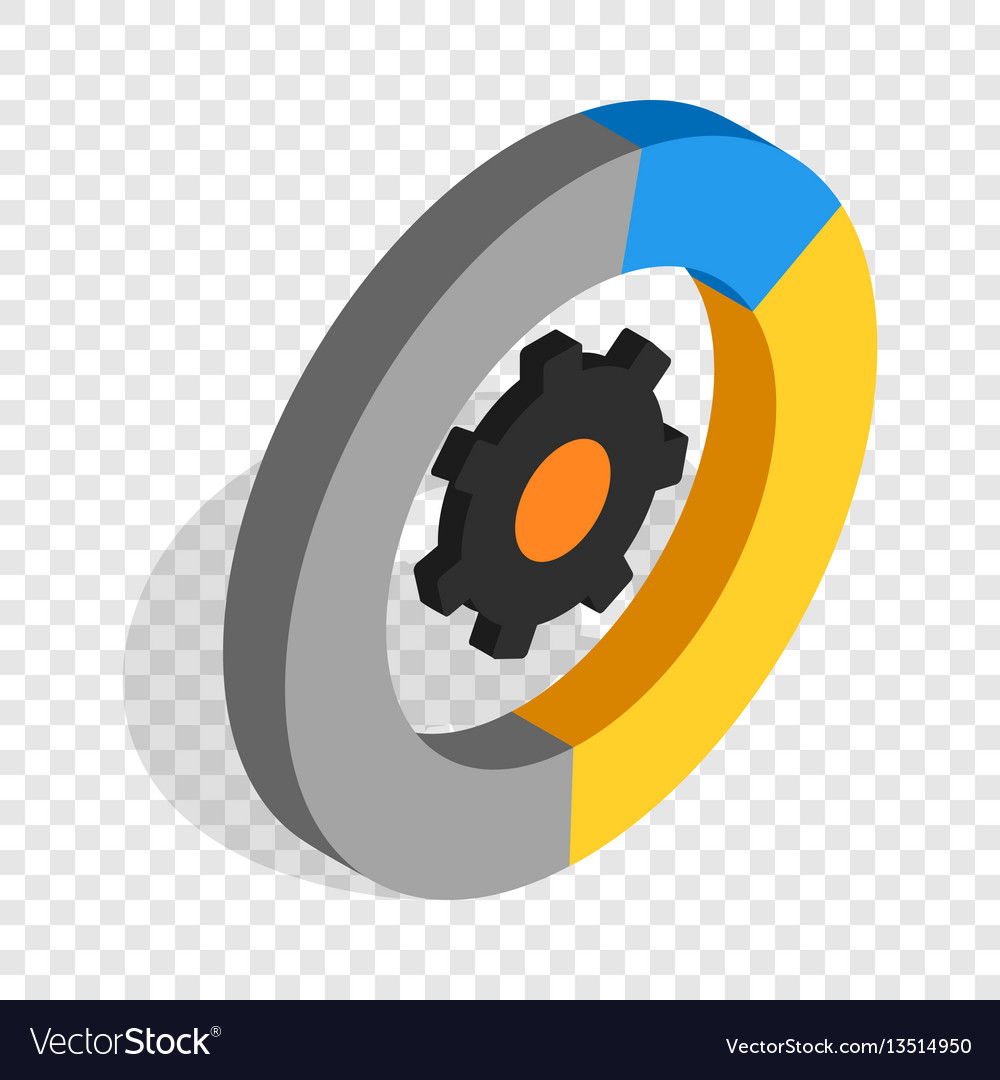 Gear wheels isometric icon vector image