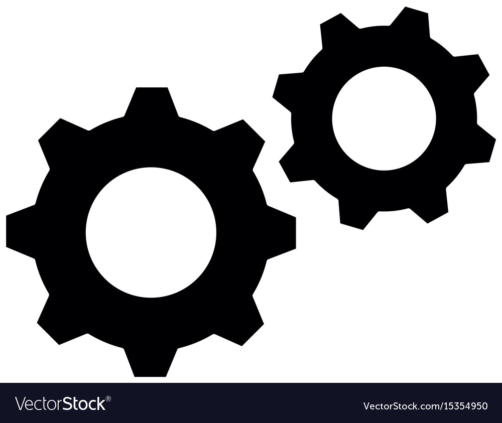 Gears machinery piece vector image
